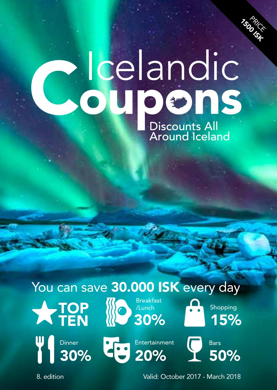 Icelandic Coupons - (1st of October 2017 - 31th of March 2018) by ...
