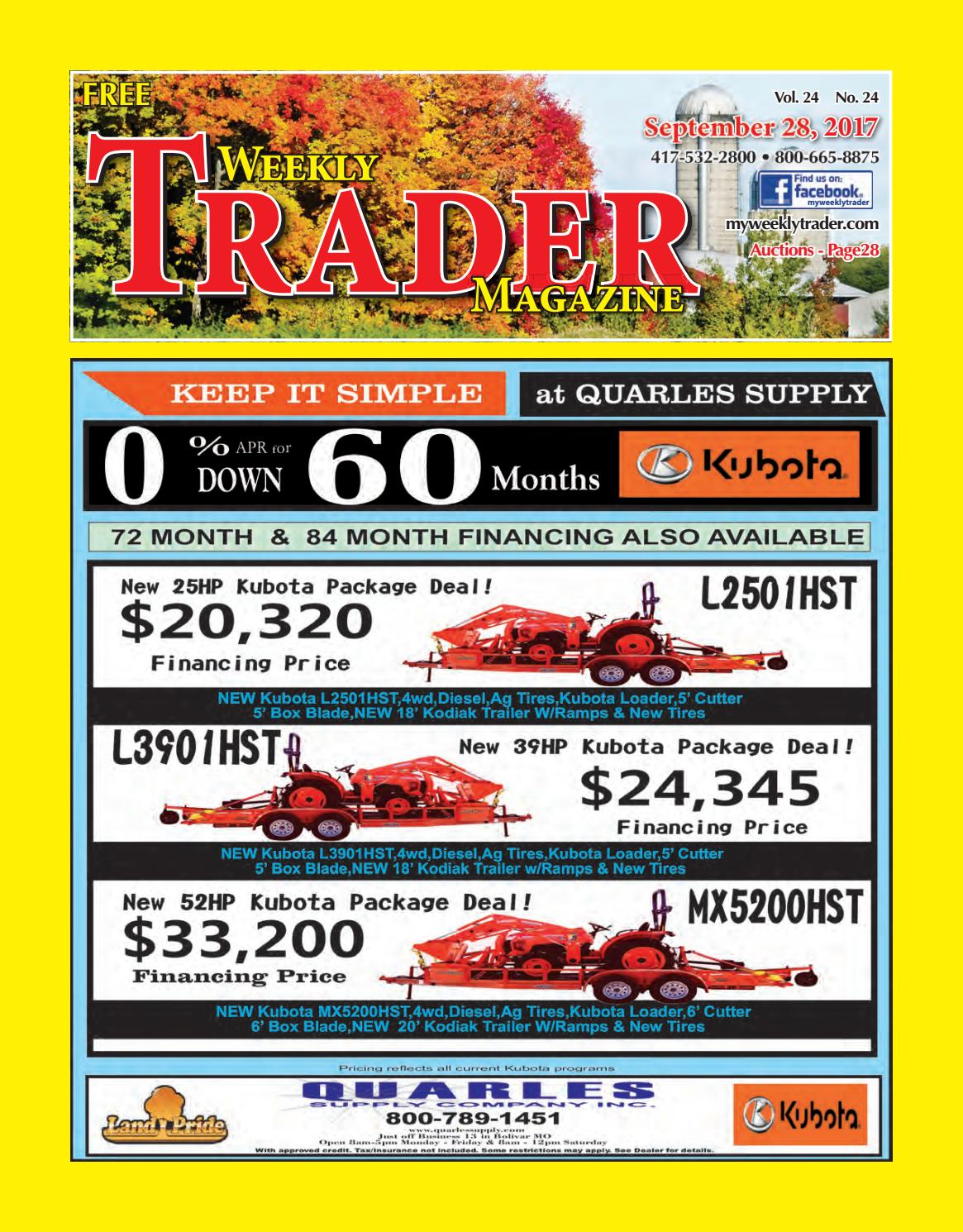 Weekly Trader September 28, 2017 by Weekly Trader - issuu