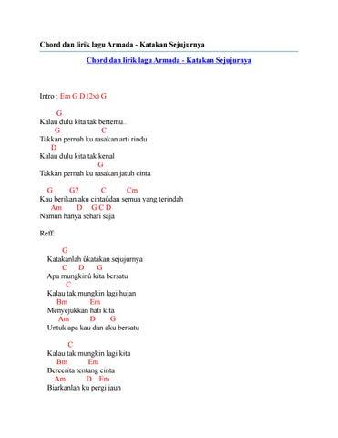 Chord Dan Lirik Lagu Armada Katakan Sejujurnya By Chord Zila Issuu