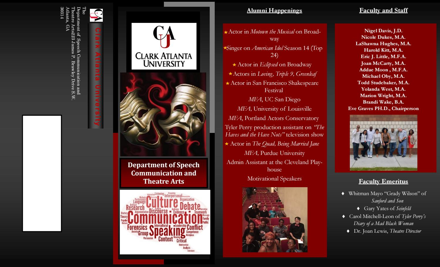 Clark Atlanta University Majors >> Cau Communications And Theatre By Brandi Issuu