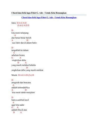 Lirik Lagu Ebiet G Ade Untuk Kita Renungkan
