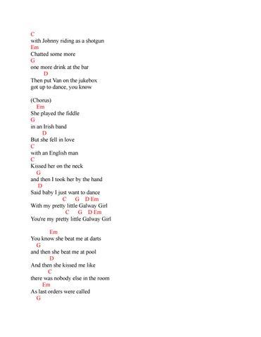 Chord Dan Lirik Lagu Ed Sheeran Galway Girl By Chord Zila Issuu