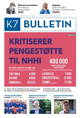 0d112c72 K7 bulletin #8 2017 by NHH Alumni - issuu