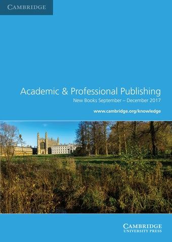 Academic professional publishing titles september december 2017 by services for booksellers make use of the wide range of services which cambridge offers fandeluxe
