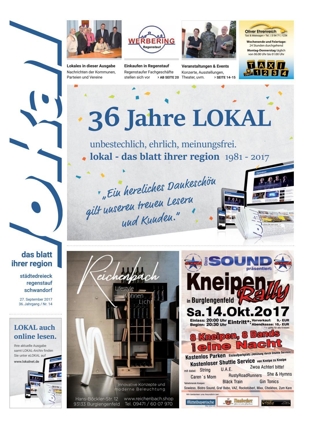 LOKAL 14   27.09.2017 By Lokal   Das Blatt Ihrer Region   Issuu