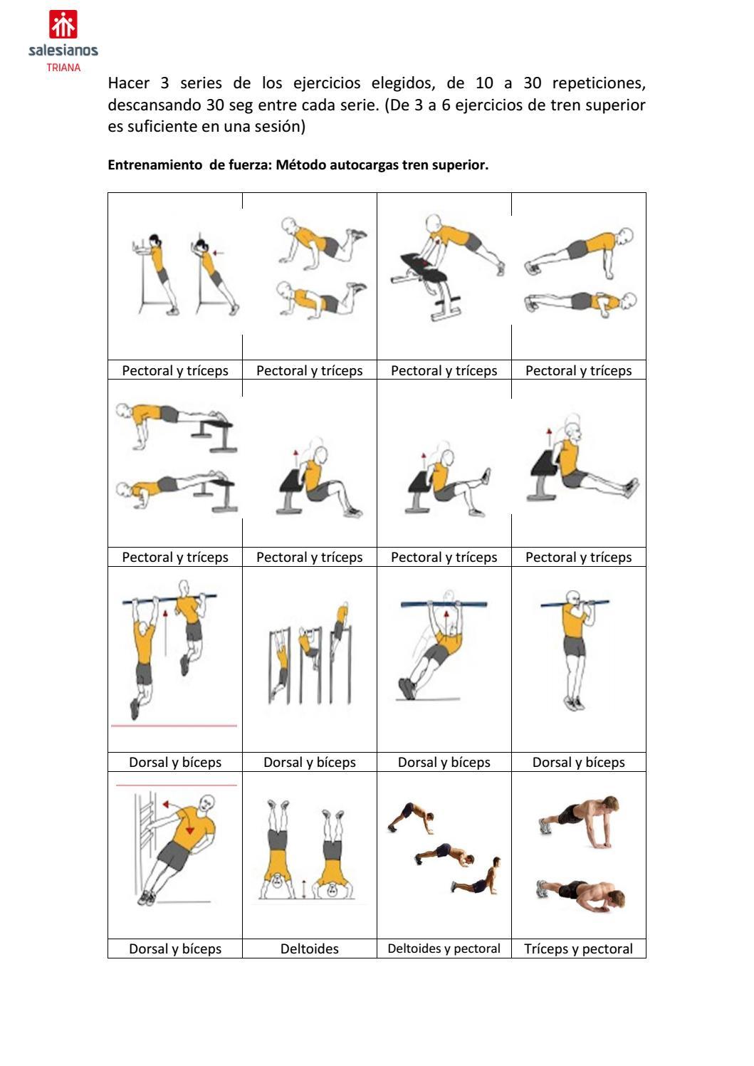 ejercicios tren inferior autocarga