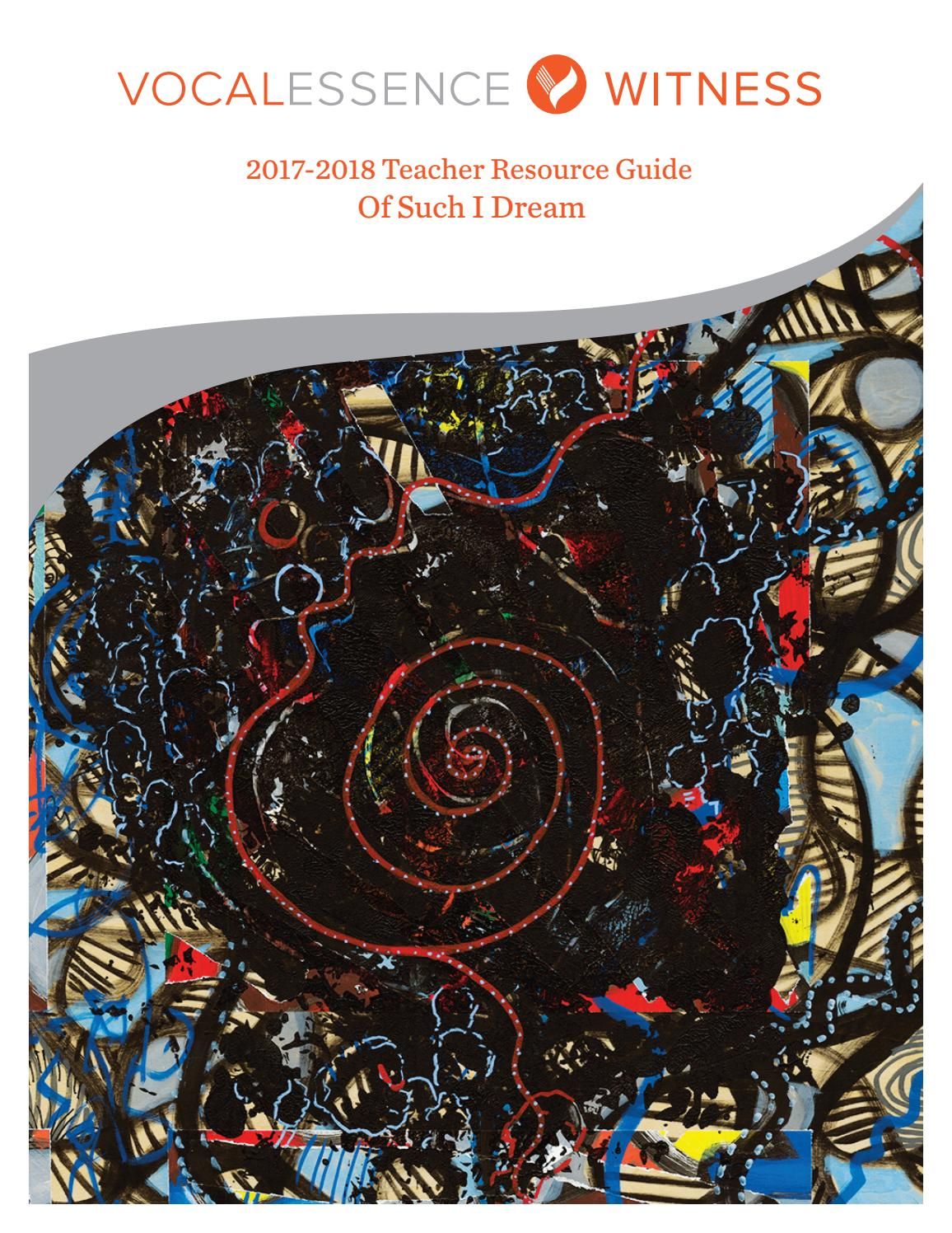 2017 2018 VocalEssence WITNESS Teacher Resource Guide by