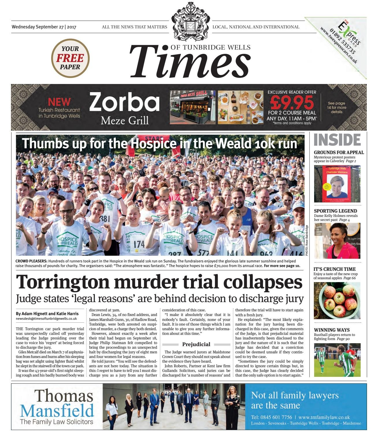 Times Of Tunbridge Wells Th September  By One Media Issuu