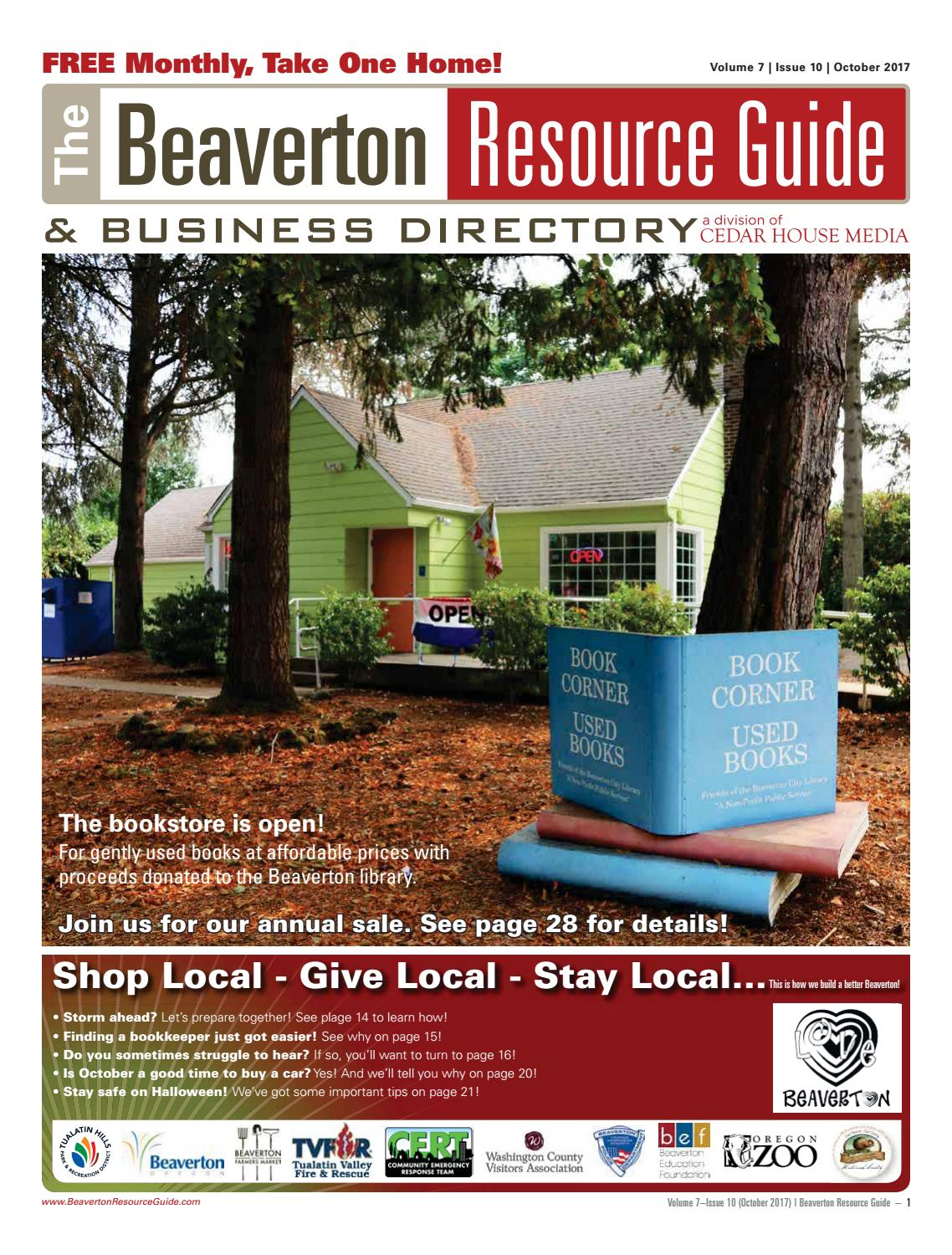 BRG October 2017 By Beaverton Resource Guide