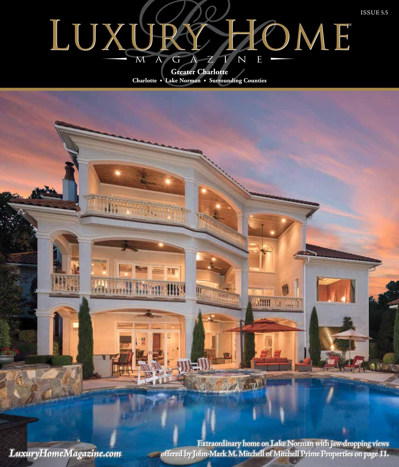 Lake Norman Luxury Homes: Luxury Home Magazine Greater Charlotte Issue 5.5 By Luxury