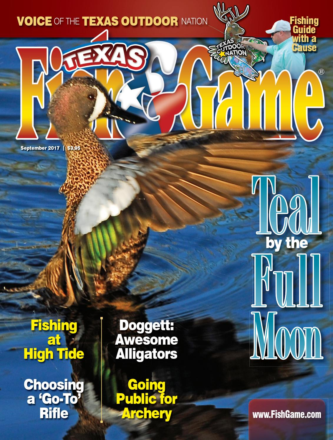 Texas fish game september 2017 by texas fishing and for Texas game and fish