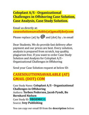 coloplast case study ivey