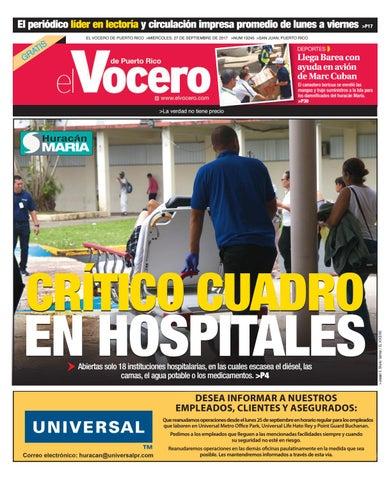 9c4b9ea5b Edición del 27 de septiembre de 2017 by El Vocero de Puerto Rico - issuu