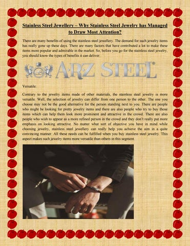 9ab2f88f843d Stainless Steel Jewellery â  x20AC   x201C  Why Stainless Steel Jewelry has  Managed to Draw Most Attention  There are many benefits of using the  stainless ...