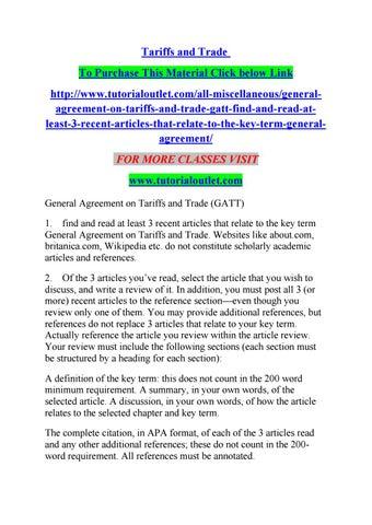 Tariffs And Trade By Albert0087 Issuu