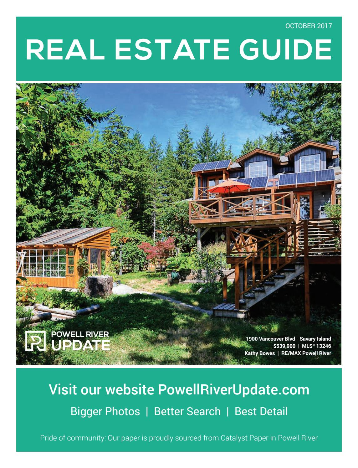 Powell River Update Real Estate Guide October 2017 by CGM Marketing ...
