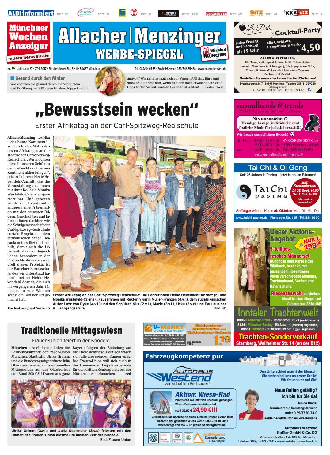 43ed824456807 KW 39-2017 by Wochenanzeiger Medien GmbH - issuu