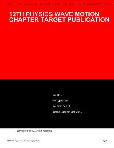 12th Physics Book Pdf