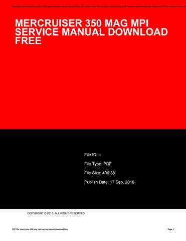 mercruiser 350 mag mpi service manual download free by tania97kshua rh issuu com 350 Mercruiser Marine Mercruiser 350 Thermostat Check Valves