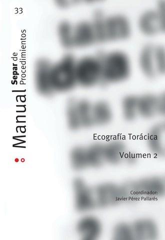 Manual 33 Volumen 2. Ecografía torácica by SEPAR - issuu