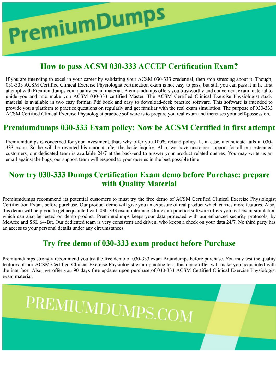 Acsm Certified Clinical Exercise Physiologist 030 333 Accep Exam