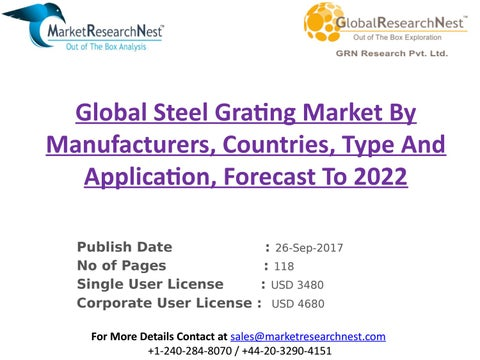 Global steel grating market by manufacturers, countries, type and