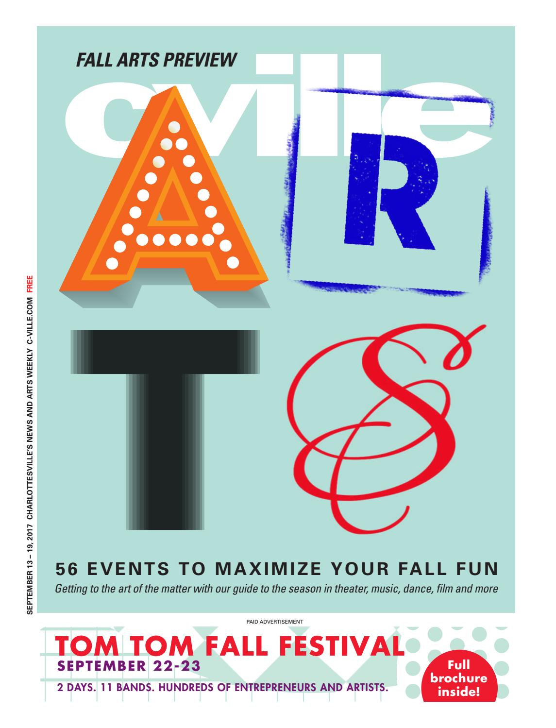 9f4a5979448 September 13  Fall Arts preview by C-VILLE Weekly - issuu