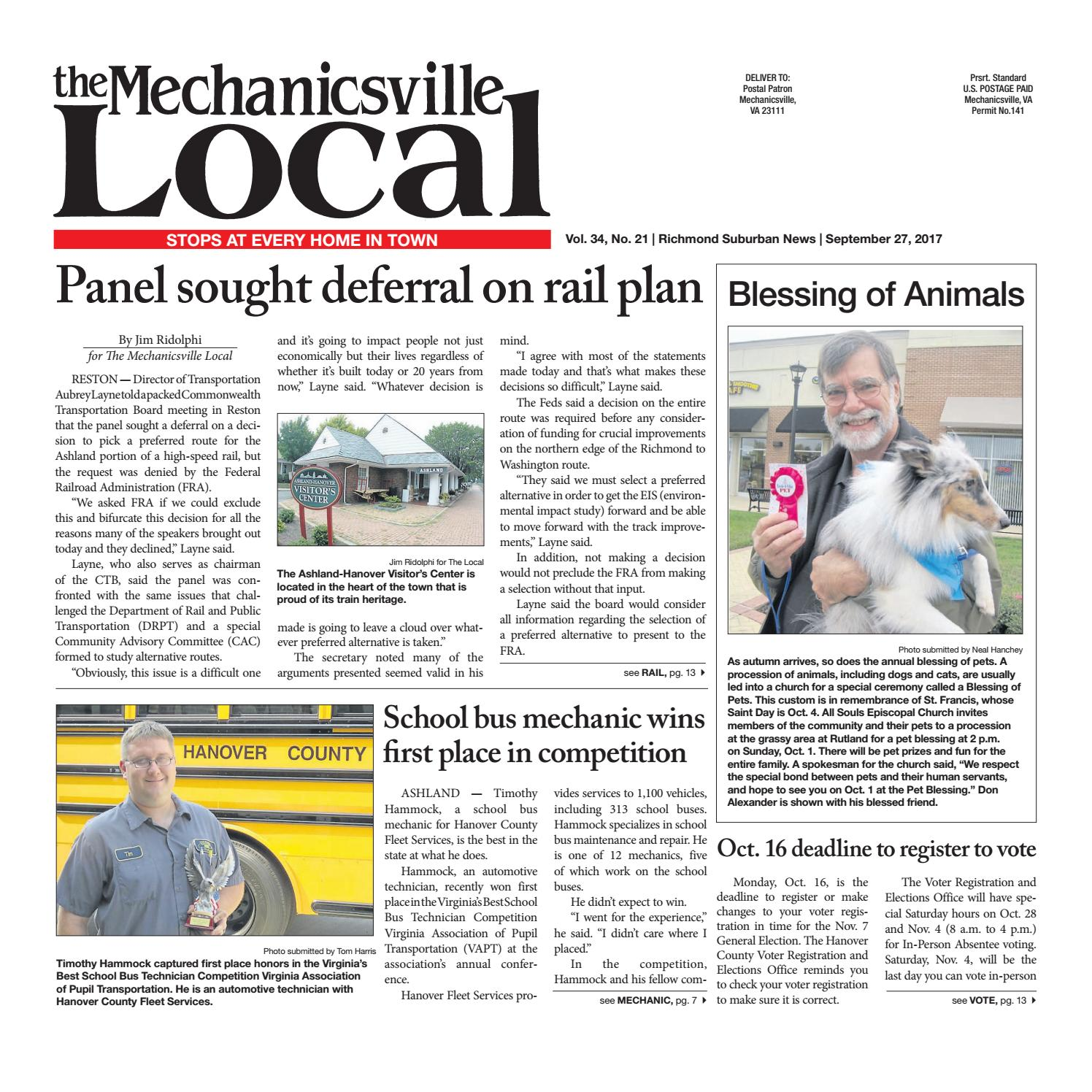 09/27/17 by The Mechanicsville Local - issuu