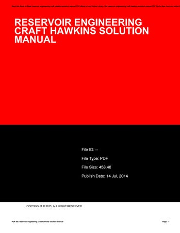 reservoir engineering craft hawkins solution manual by ahsu87haha rh issuu com Test Bank Solutions Manual craft and hawkins solution manual pdf