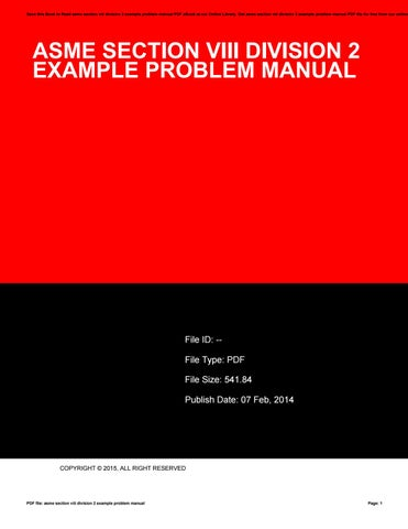 Asme Section Viii Pdf