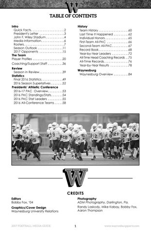 2017 Waynesburg University Football Guide By Waynesburg University