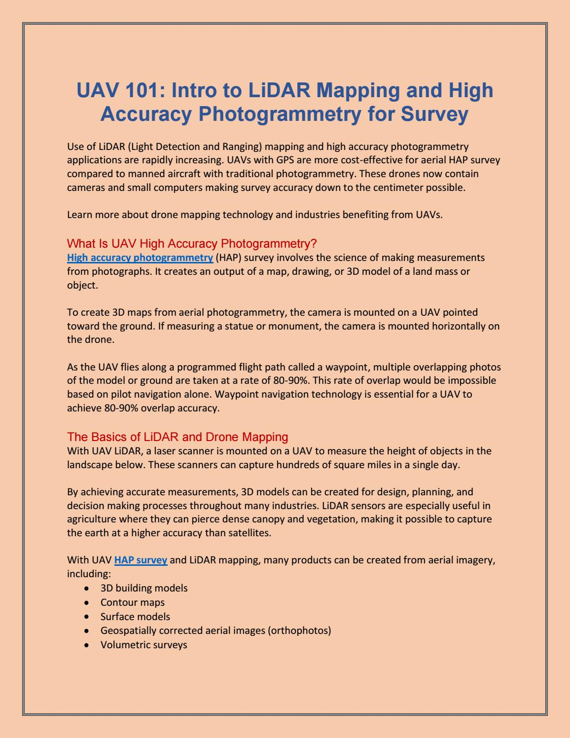 High accuracy photogrammetry by Ron Poul - issuu