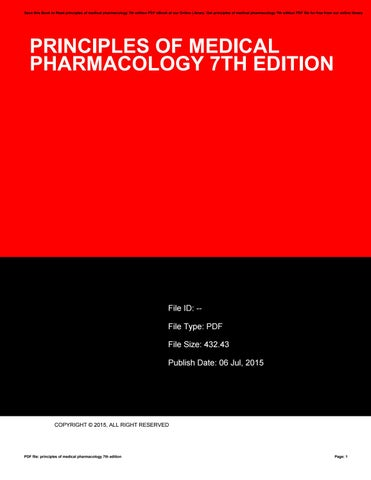 Medical Pharmacology Book Pdf