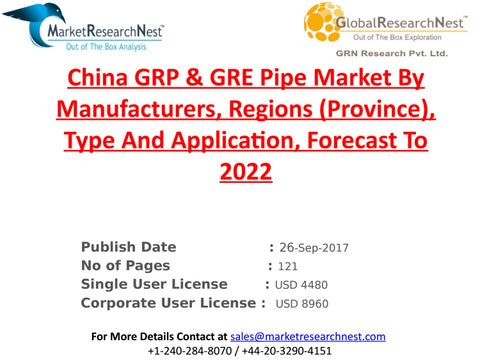 China grp & gre pipe market by manufacturers, regions (province