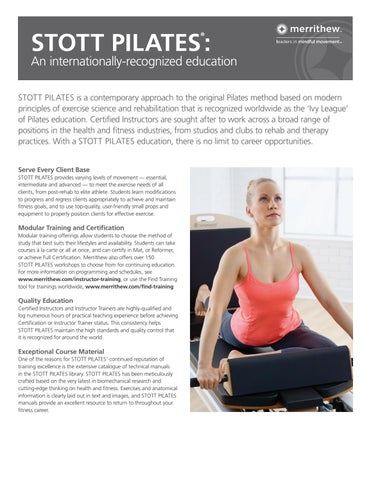 Why choose STOTT PILATES? by Merrithew™ - issuu