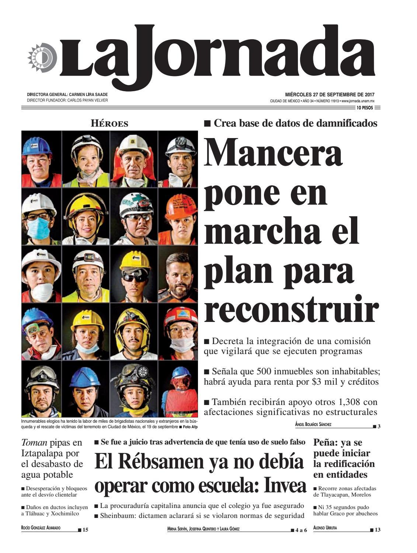 official photos 79819 758e6 La Jornada, 09 27 2017 by La Jornada  DEMOS Desarrollo de Medios SA de CV -  issuu