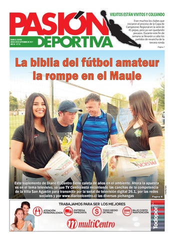 Pasion Deportiva 28-09-2017 by Diario El Centro S.A - issuu 31b150b733595