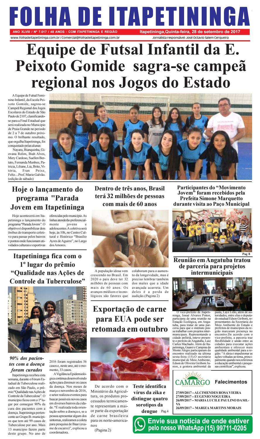 0b4a288deb Folha de Itapetininga 28 09 2017 by Jornal Folha de Itapetininga - issuu