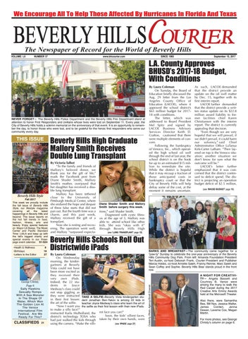 Bhcourier E Edition 091517 By The Beverly Hills Courier Issuu