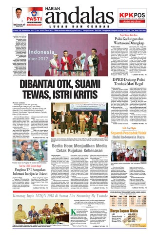 Epaper andalas edisi kamis 28 september 2017 by media andalas - issuu 3ef1d16562