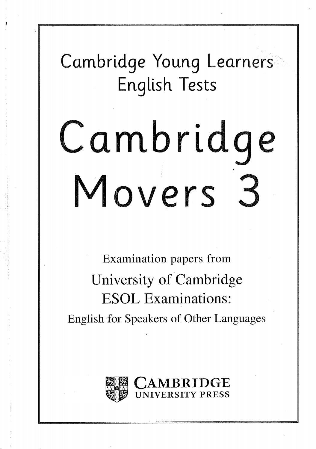 Cambridge mover 3 student's book 28 9 2017 by EBOOK SOS LIB