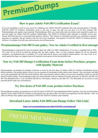 9A0-385 Adobe AEM 6.0 Architect Exam Questions by MichaelWright - issuu