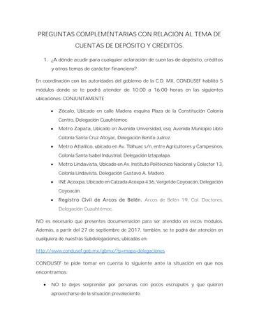 Módulos Y Preguntas Condusef By Información Integral 24 7