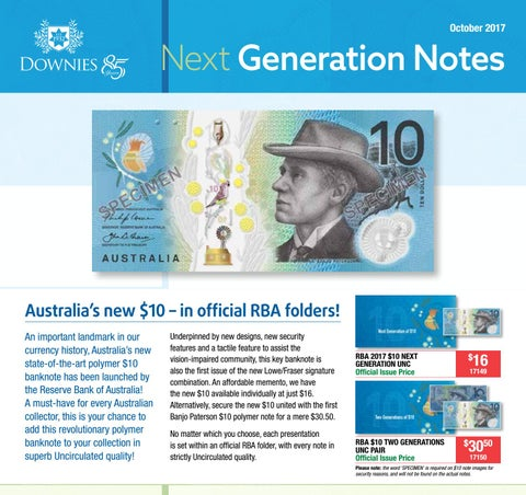 New and Old Polymer RBA Official Folder $5 Two Generations Unc Pair