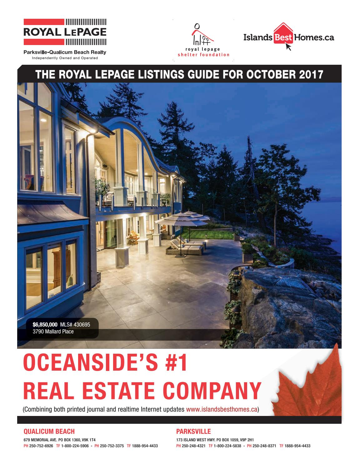 Islands best homes royal lepage parksville qualicum beach realty october 2017