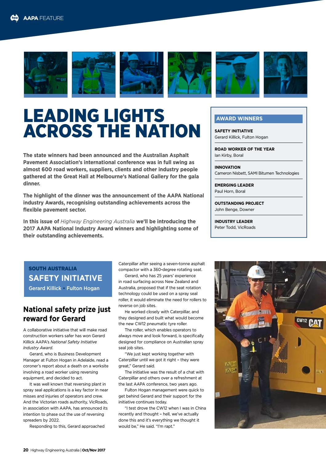 Highway Engineering Australia V49 3 Oct-Nov 2017 by EPC Media Group