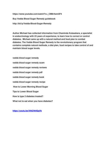 veeda blood sugar diet recipes