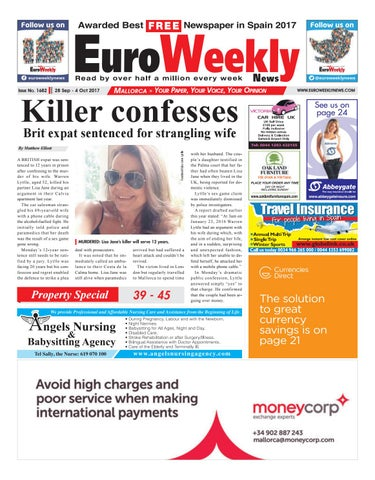 Euro weekly news mallorca 28 september 04 october 2017 issue page 1 fandeluxe Image collections