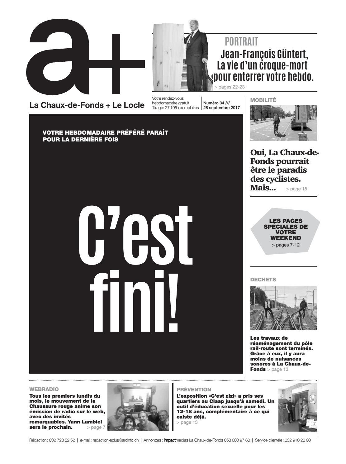 A+ La Chaux-de-Fonds + Le Locle - Edition du 28 septembre