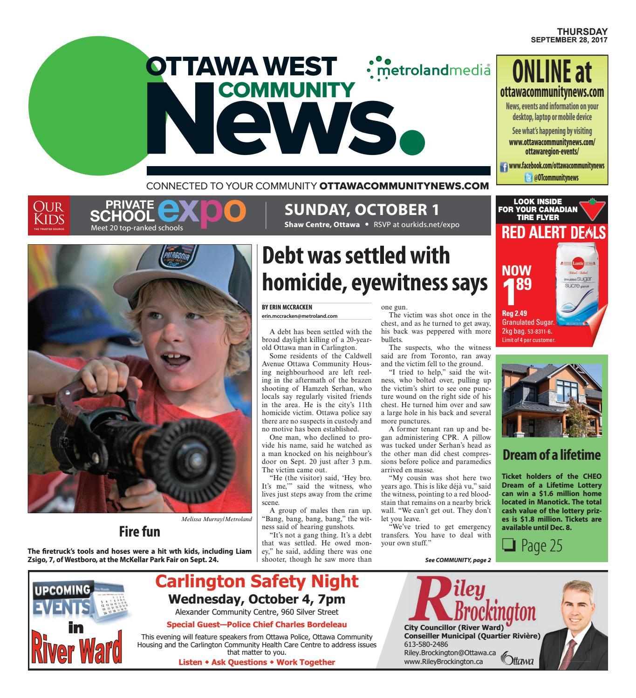 Ottawawest092817 by Metroland East - Ottawa West News - issuu